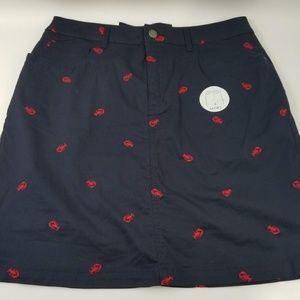 💥New Croft&Barrow skort lobster embroidered sz 6